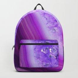 Magically Purple Agate Druzy Backpack