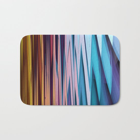 Water and Earth tones in an Abstract Bath Mat