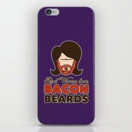 Bacon Beard (women's version) iPhone Skin