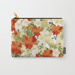 Poinsettia Collage Carry-All Pouch