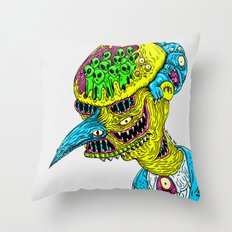 Monster Burns Throw Pillow