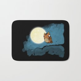 night owl rides again Bath Mat