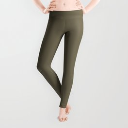 Martini Olive | Pantone Fashion Color | Fall : Winter 2018 | New York and London | Solid Color Leggings