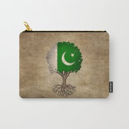 Vintage Tree of Life with Flag of Pakistan Carry-All Pouch