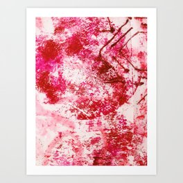 Ruby Abstract Acrylic from 52 Facets Zine Art Print