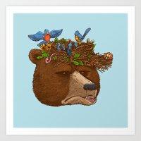 Mr Bear's Nature Hat 2017 Art Print