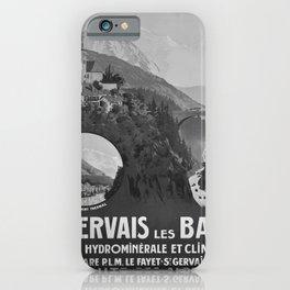 retro classic PLM St Gervais les Bains poster iPhone Case