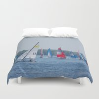 racing Duvet Covers featuring Racing by Nonna Originals