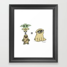 The origin of pugs Framed Art Print