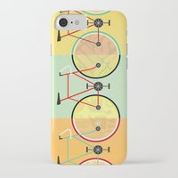 bikes iPhone & iPod Cases featuring Bikes by KateWadsworth