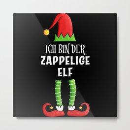 Zappelige Elf Partnerlook Weihnachten Metal Print