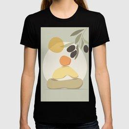 Abstract balancing stone yoga illustration buddha buddhism contemporary art poster pastel colors T-shirt