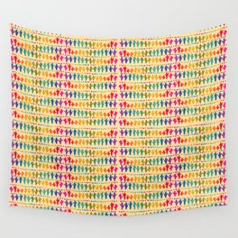 Cactus and Dots Print Wall Tapestry