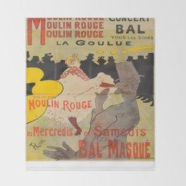 Vintage poster - Toulouse Lautrec Throw Blanket