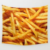 fries Wall Tapestries featuring French Fries by I Love Decor