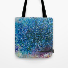Bouquet Of Forget Me Nots by Lena Owens Tote Bag