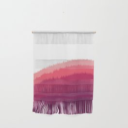 Layered Forest Hills - Purple to Pink Wall Hanging