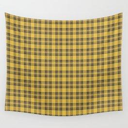 Yellow Tartan Wall Tapestry