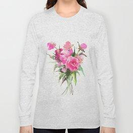 soft pink peonies Long Sleeve T-shirt