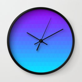 Blue and Purple Ombre - Flipped Wall Clock