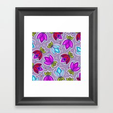 Pop Off Floral Framed Art Print