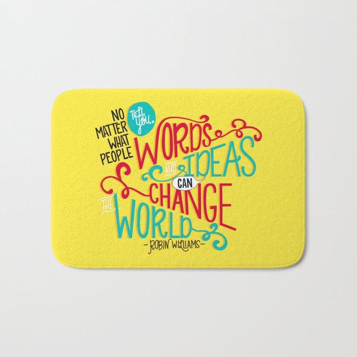 Words and Ideas Bath Mat