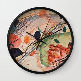 Wassily Kandinsky - Watercolor 1911 Wall Clock