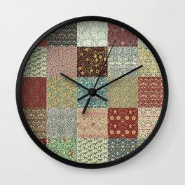 William Morris Collage Wall Clock