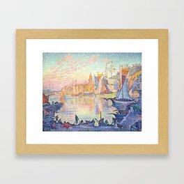 The Port of Saint-Tropez, Paul Signac, 1901 Framed Art Print