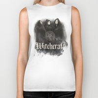 witchcraft Biker Tanks featuring Witchcraft by Corpse inc