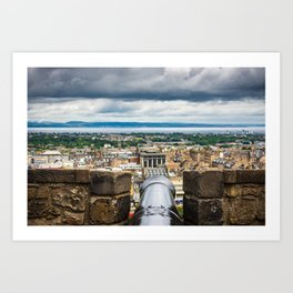 View from Edinburgh Castle, Scotland Art Print