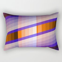 Color Harmony Blue orange Rectangular Pillow