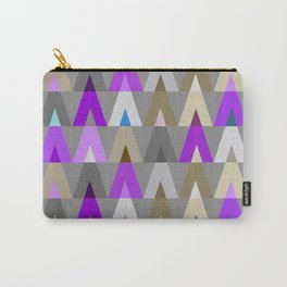 Deer Head Geometric Triangles | purple grey Carry-All Pouch