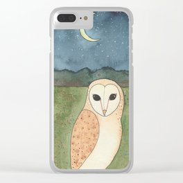 Barn Owl Clear iPhone Case