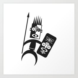 African Warrior Art Print