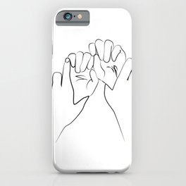 main dominante- Dominant hands print ,Holding Hands iPhone Case