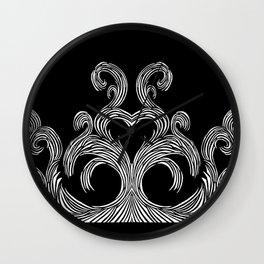 Swirls & Heart Wall Clock