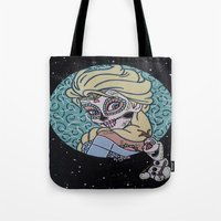 olaf Tote Bags featuring Elsa and Olaf by KittyOG