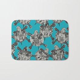 turtle party surf blue Bath Mat