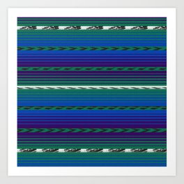 Blue Huipil Art Print