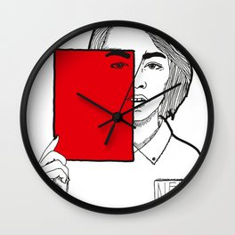 All red. Wall Clock