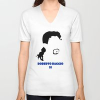 juventus V-neck T-shirts featuring Baggio Juventus by Sport_Designs