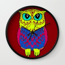 The colourful owl Wall Clock