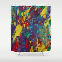 oil Shower Curtains featuring Oil Paint by Maioriz Home