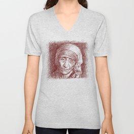 Mother Teresa Unisex V-Neck