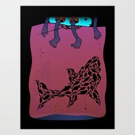Fear of the Deep Art Print