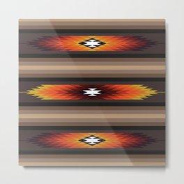 American Native Pattern No. 141 Metal Print