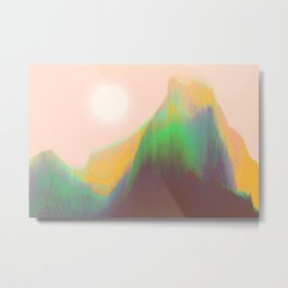 Mountain Heat Metal Print