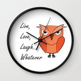 Cool sarcastic owl Wall Clock