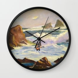 S l a s h  in the ocean Wall Clock